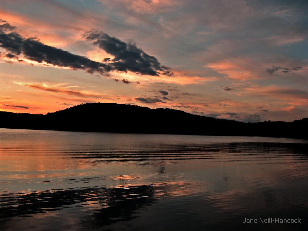 Near the end of the sunset, Monksville Reservoir by Jane Neill-Hancock
