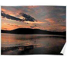 Near the end of the sunset, Monksville Reservoir Poster