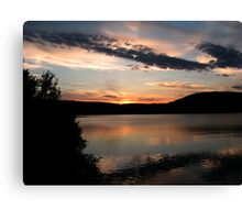 Wish We Did Not Have To Leave, the end of the Sunset Canvas Print