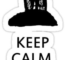 Keep Calm, Cross Country MTB , Mt Stromlo BLACK Sticker