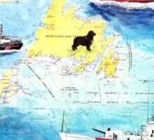 USCG Boats Lighthouse Newfoundland Dog Cathy Peek Sticker