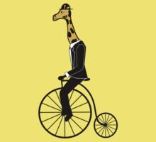 Penny-farthing Giraffe One Piece - Short Sleeve