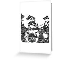 Mechanoid Planet Greeting Card