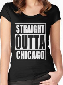 Straight Outta Chicago Women's Fitted Scoop T-Shirt