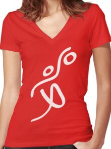 Olympic Basketball Women's Fitted V-Neck T-Shirt