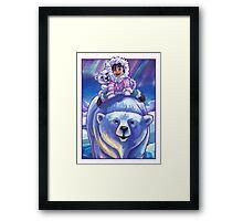 Polar Bear Bus Framed Print