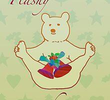 Flashy festive bear by JayZ99