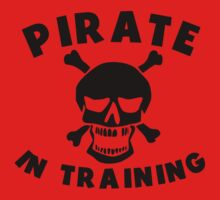 Pirate In Training Baby Tee