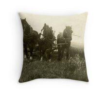 Harwood Threashing Throw Pillow