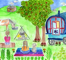 gypsy caravan by Hbeth