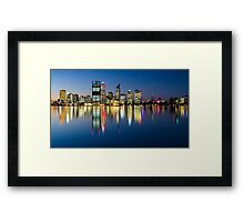 Perth City Reflects Framed Print
