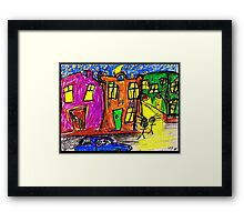 We live in the City Framed Print