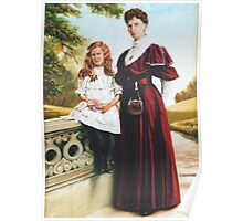 Victorian Mother and Daughter Poster