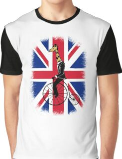 Penny-farthing Giraffe (London Version) Graphic T-Shirt
