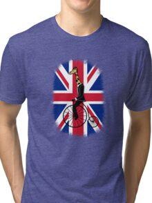 Penny-farthing Giraffe (London Version) Tri-blend T-Shirt
