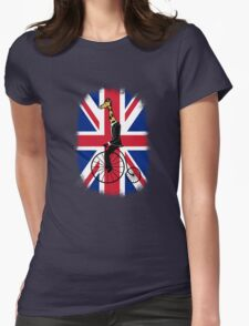 Penny-farthing Giraffe (London Version) Womens Fitted T-Shirt