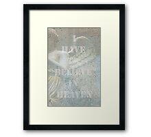 Assuage (1) Framed Print