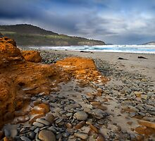 Corroded Outcrop - Roaring Beach, Tasmania by clickedbynic