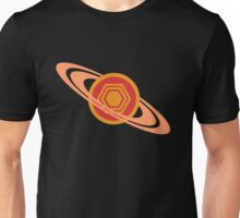 Saturn's Hexagon Unisex T-Shirt