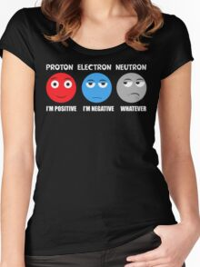 Proton Electron Neutron T Shirt Women's Fitted Scoop T-Shirt