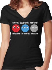 Proton Electron Neutron T Shirt Women's Fitted V-Neck T-Shirt