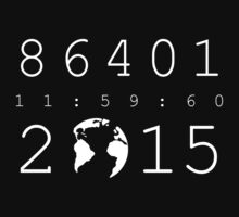 86401 Leap Second 2015 (white version) Baby Tee