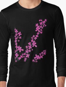 Cherry Blossom on Pink Long Sleeve T-Shirt