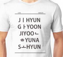 4 minute member name black Unisex T-Shirt