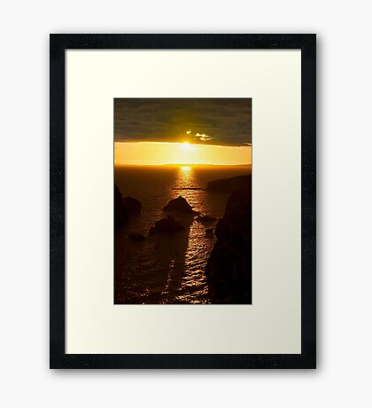 sunset over the wild atlantic way Framed Print