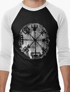 Runic Magic, Norse Compass - 'Vegvisir' Men's Baseball ¾ T-Shirt