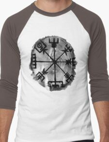 Runic Magic, Norse Compass - 'Vegvisir' Men's Baseball ¾ T-Shirt