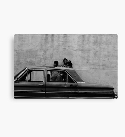 Family Car Canvas Print