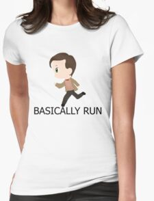 Basically Run Womens Fitted T-Shirt