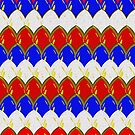 Red White & Blue with Gold Dragon Scales by Buckwhite