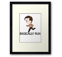 Basically Run Framed Print