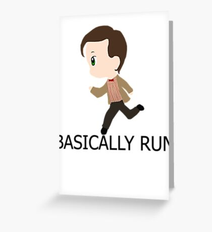 Basically Run Greeting Card