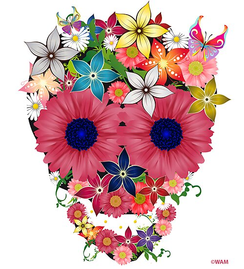 Skull Flowers by WAMTEES
