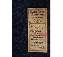 1920s Bookmark Photographic Print