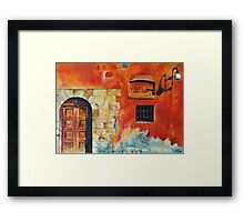 Egyptian Facade Framed Print