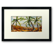 Swaying Of The Palms Framed Print