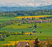 Looking up the Reuss Valley, Switzerland by Michael Brewer