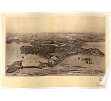 Panoramic Maps Winthrop Mass Poster