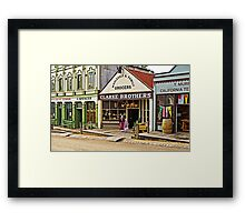 Sisters at Clarke Brothers - Main Street, Sovereign Hill Framed Print