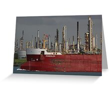 Freighter and Factory 3 Greeting Card