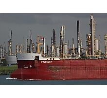 Freighter and Factory 3 Photographic Print