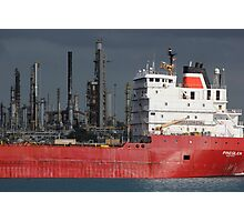 Freighter and Factory 6 Photographic Print