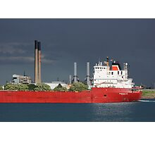 Freighter and Stacks 2 Photographic Print