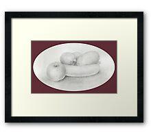 Fruit Sketch Framed Print