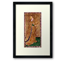 Medieval Lady painting Framed Print