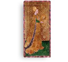Medieval Lady painting Canvas Print